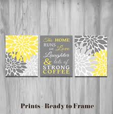 Grey And Yellow Kitchen Ideas Home Decor Wall Art Live Laugh Love Yellow Wall Art Flower