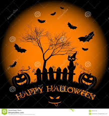 holiday illustration on theme of halloween wishes for happy
