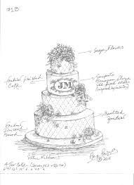 wedding cake drawing dodds custom wedding cake sketch and michael the inn