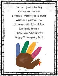 handprint turkey poem thanksgiving poem for painting