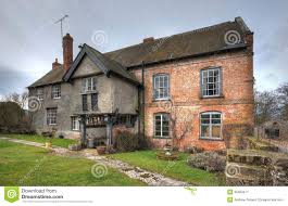 L Shaped House With Porch Farmhouse Shropshire Stock Image Image 35393471