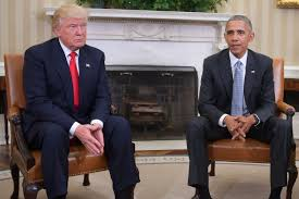 donald trump meets with president obama at white house