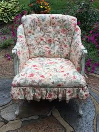 shabby chic sofa slipcover shabby chic white floral tapestry telephone chair sofa table retro