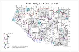 Wisconsin Counties Map by Wisconsin Snowmobile Trail Maps