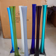 Large Floor Vases For Home Entrancing Image Of Decorative Tall Thin Blue Large Floor Glass