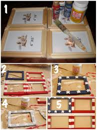 diy flag photo collage frame the happy housewife home management