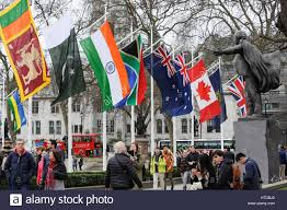 Commonwealth Flags London Uk 10th Mar 2017 Fifty Two Flags Representing Countries