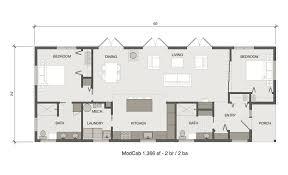 fabcab modcab 1366 prefab home floor plan new house