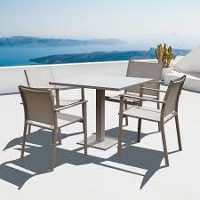 4 Seater Patio Furniture Set - cozy bay cozy bay verona textelene 4 seater dining set