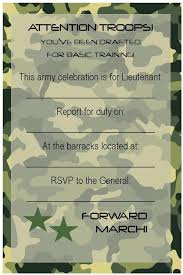 free birthday party invitations free printable invitations army