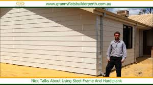 using steel frame and hardiplank granny flats builder perth
