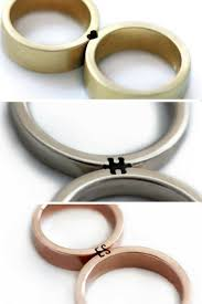 these wedding rings only make sense when you fit them together