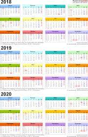 Kalender 2018 Hd Dreijahreskalender 2018 2019 2020 Als Pdf Vorlagen Zum Ausdrucken