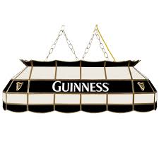 guinness handmade stained glass tiffany style pool table lamp
