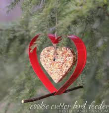 hanging cookie cutter bird feeder homemade bird seed cakes