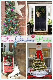 outside christmas decor ideas from four bloggers
