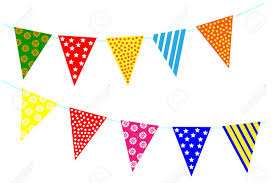 Flag Triangle Celebrate Decoration Banner Party Festival Triangle Flags
