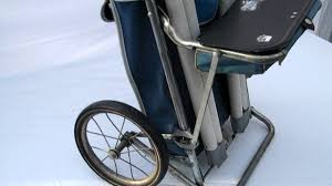 vintage 1950s blue park ridge push pull golf cart w seat by
