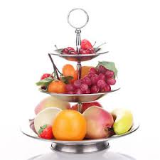 3 tier fruit basket 3 tier fruit bowl stainless steel fruit or vegetable holder hanging