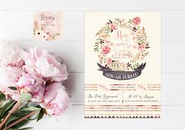 wedding shower invites floral bridal shower invitations rustic bridal shower bridal
