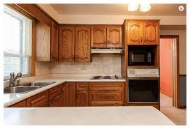 S Oak Kitchen Needs Short Term Paint Facelift  Makeover - Oak kitchen cabinet makeover