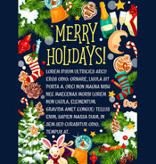 merry holidays greeting card royalty free vector