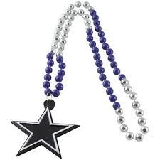 mardi gras beaded necklaces dallas cowboys mardi gras with medallion
