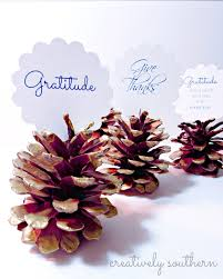thanksgiving name card holders thanksgiving pinecone placecard holders and a free printable