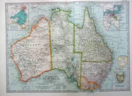 atlas map of australia 1902 century atlas map australia