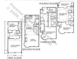 3 story townhouse floor plans plan d4176 u5