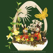 german easter decorations easter decorations buy bunny easter decoration paring 3 bunnies duff