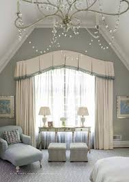 classical bedroom curtain curved window treatments pinterest bedroom from romantic homes 201405 like window treatment