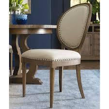 vintage oval back side chair bassett home furnishings