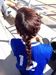 Cute Sporty Hairstyles 126 Best Softball Basketball Cheer Hair Images On Pinterest