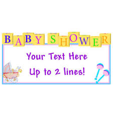 baby shower banners baby shower personalized banners baby shower party supplies