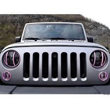jeep pink euro pink turn light guards for jeep wrangler jk 2007 2017