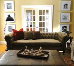 Chesterfield Velvet Sofa by Chesterfield Sofa With Leather Ottoman Cococo Home