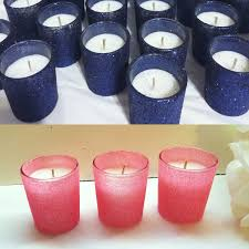 24 coral and navy wedding coral wedding decor votive candle