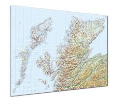 Map Scotland Map Poster Gb Regional Map Scotland Highlands U0026 Islands From