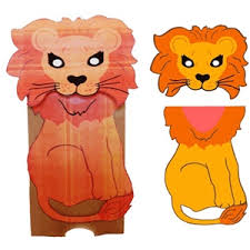 lion puppet silhouette design store view design 31073 lion paper sack puppet