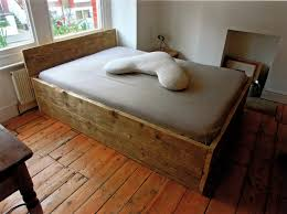 Bed Bases Wooden Double Bed Base With Headboard Made From Solid