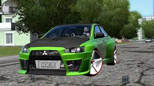 green mitsubishi lancer city car driving 1 5 2 mitsubishi lancer x evo tuning g27 youtube