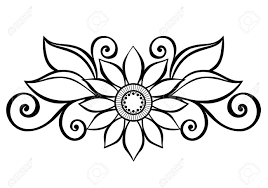 decorative flower beautiful decorative flower with leaves vector patterned design