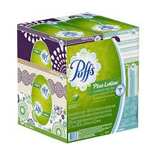 puffs plus lotion tissues 6 family boxes 124