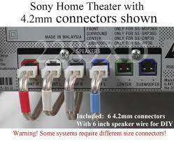 7 1 sony home theater system 6c 4 2mm speaker cable wire plug connectors made for select sony