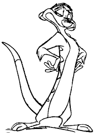 coloring page lion lion king timon coloring page
