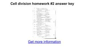 Meiosis Matching Worksheet Answers Cell Division Homework 2 Answer Key Docs