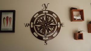 wood compass wall handmade 36 inch metal compass wall by superior iron artz