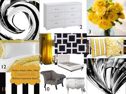 black white yellow modern black yellow white bedroom color