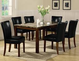 telegraph rich cherry wood and marble dining table set steal a